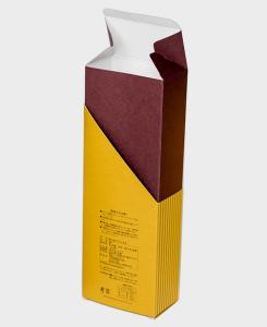 紙箱:食品・菓子関係 サック箱 特殊紙+コートボール合紙 1-2