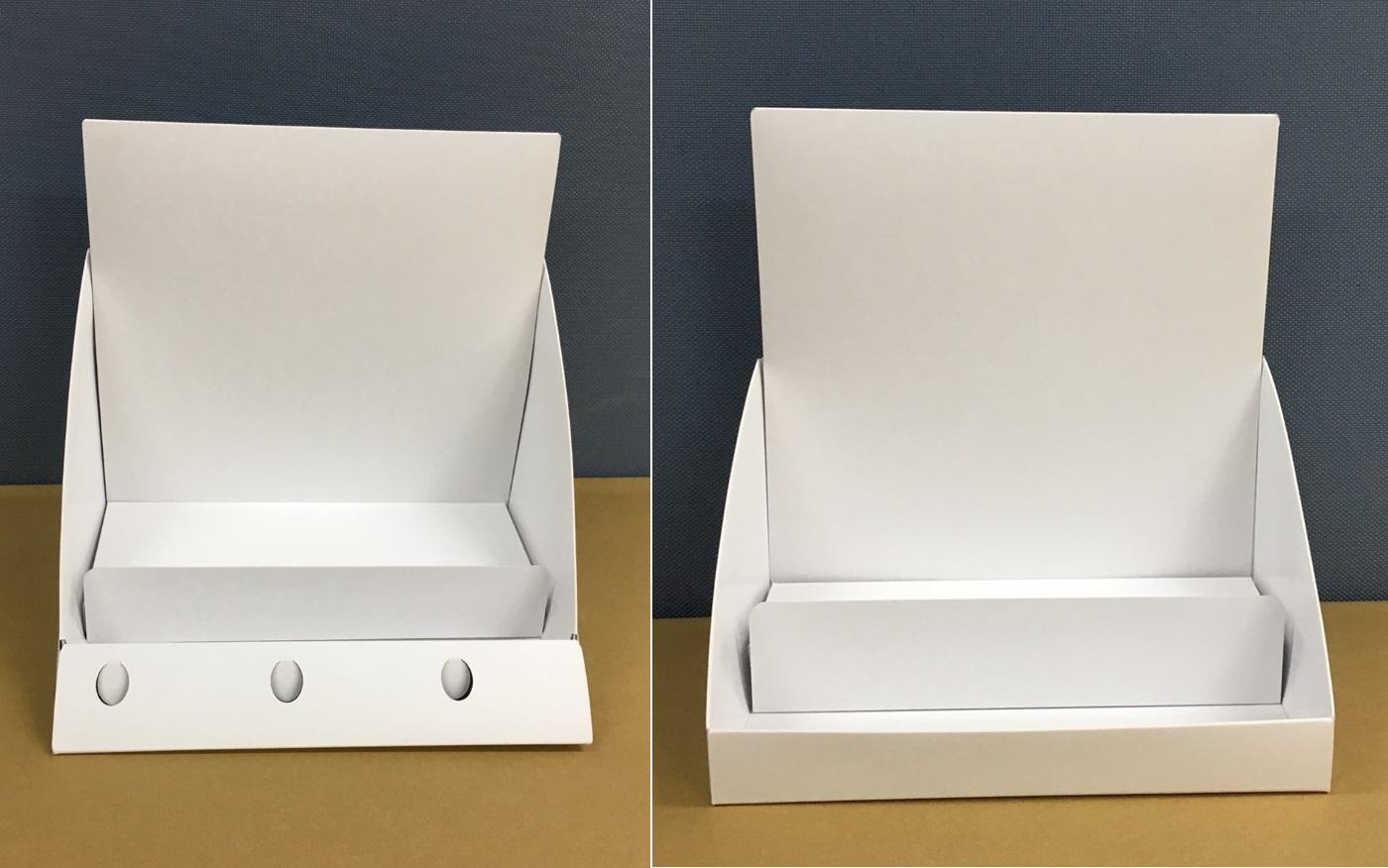 販促用ディスプレイ・紙製什器の既製品販売(紙製の棚)