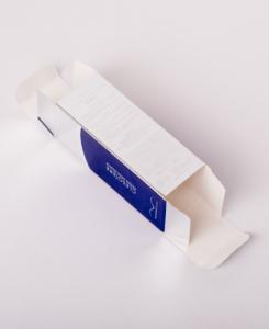 紙箱:化粧品・美容関係 サック箱 メタル紙 1-3